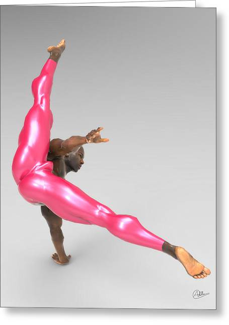 Athlete Dancer Rehearsing Greeting Card by Joaquin Abella