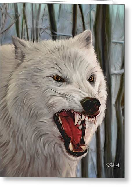 Atka Arctic Grey Wolf Greeting Card