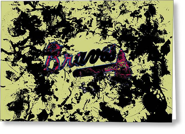 Atlanta Braves 1c Greeting Card by Brian Reaves