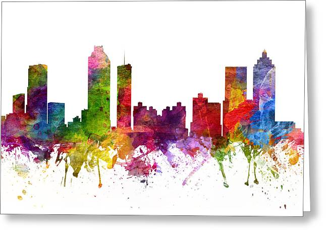 Atlanta Cityscape 06 Greeting Card