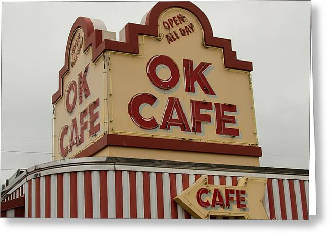 Atlanta Classic Ok Cafe Atlanta Restaurant Art Greeting Card