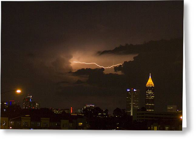 Atlanta Cloud Lightning Greeting Card