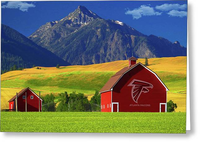 Greeting Card featuring the photograph Atlanta Falcons Barn by Movie Poster Prints