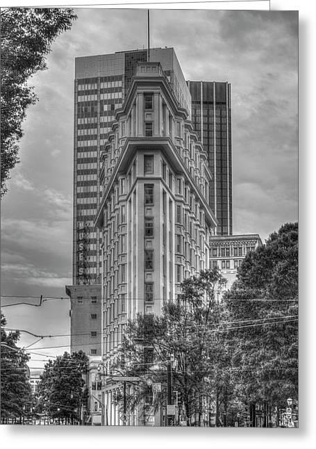 Atlanta Flatiron B W Architecture Art Greeting Card
