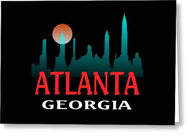Atlanta Georgia Design Greeting Card