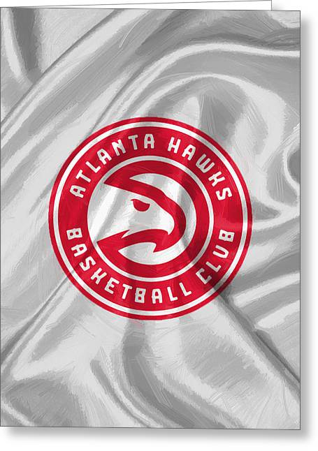 Atlanta Hawks Greeting Card by Afterdarkness