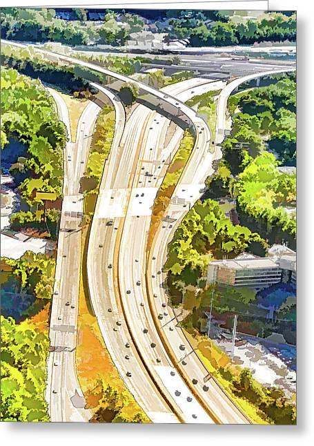 Atlanta Highways Greeting Card