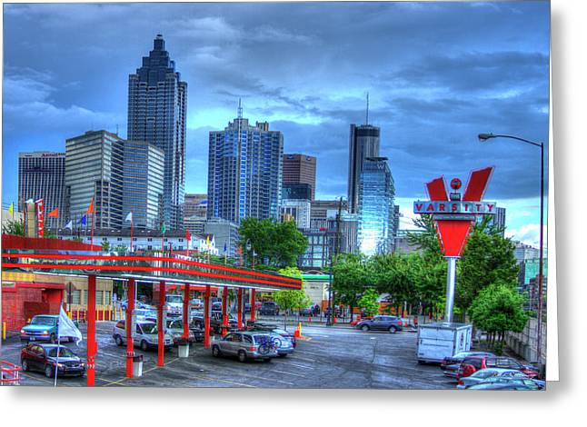 Atlanta Landmark The Varsity Art Greeting Card