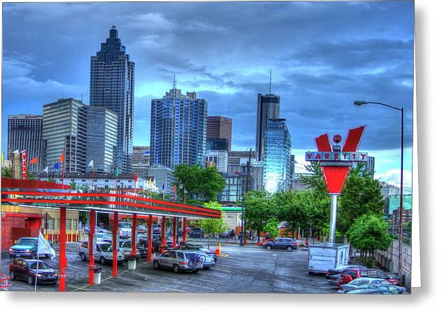 Atlanta Landmark The Varsity Art Greeting Card by Reid Callaway