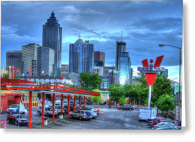 Atlanta Landmark The Varsity Greeting Card by Reid Callaway