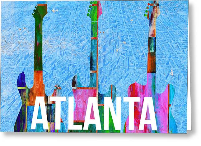 Atlanta Music Scene Greeting Card by Edward Fielding