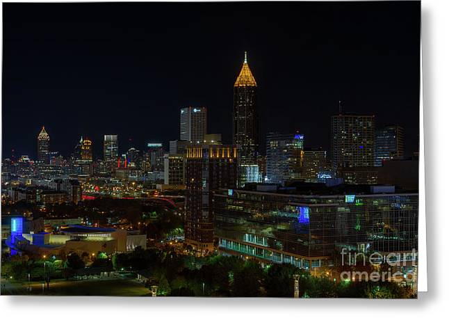 Atlanta Nights Greeting Card