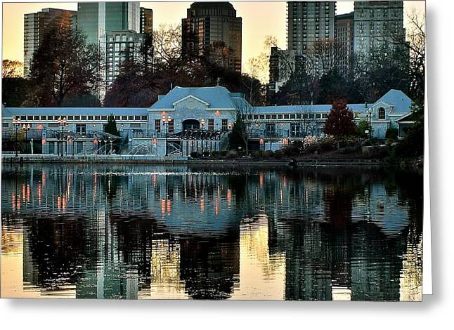 Atlanta Over Piedmont Park Greeting Card by Frozen in Time Fine Art Photography