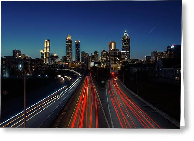 Atlanta Skyline 1 Greeting Card