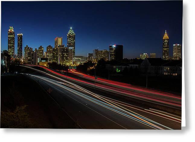 Atlanta Skyline 2 Greeting Card