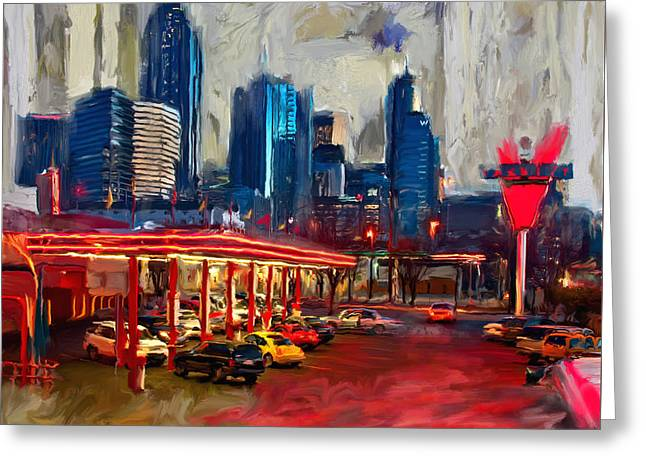 Atlanta Skyline 231 1 Greeting Card by Mawra Tahreem