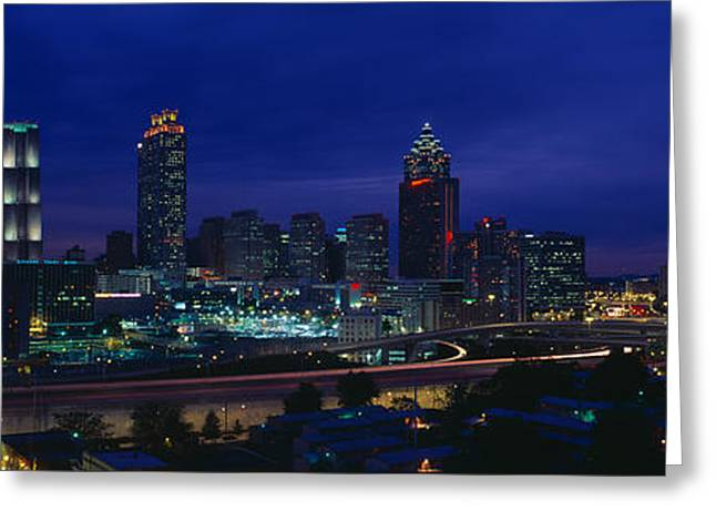 Atlanta Skyline After Olympics, Georgia Greeting Card