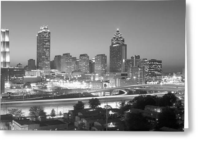Atlanta Skyline At Dusk After Olympics Greeting Card