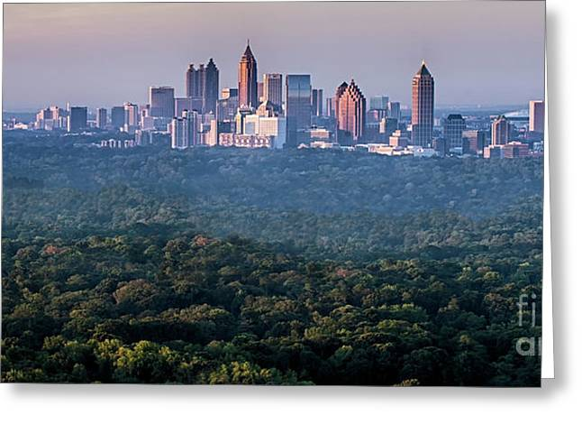 Atlanta Skyline Greeting Card by Doug Sturgess