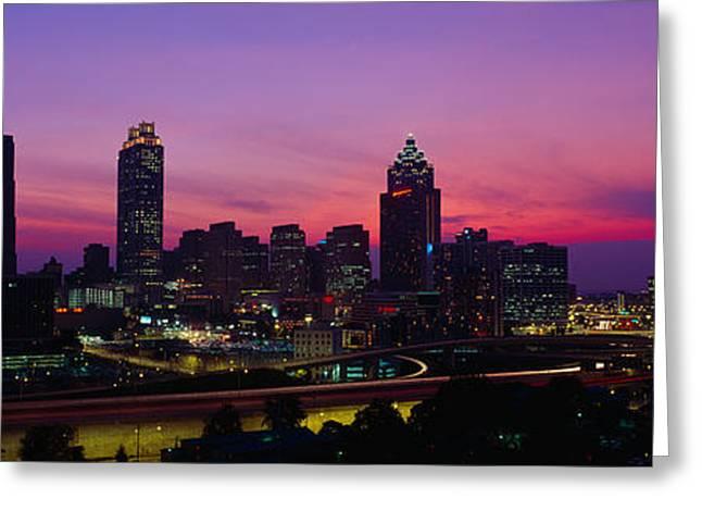 Atlanta Skyline, I-20, Georgia Greeting Card
