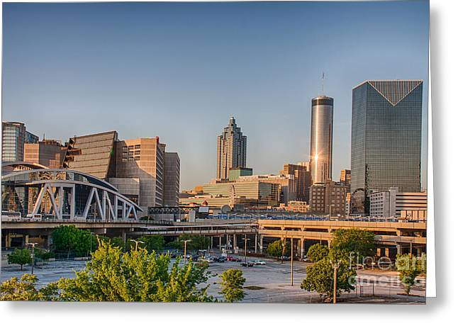 Atlanta Skyline Philips Arena Greeting Card