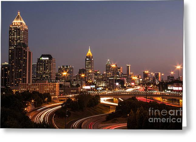 Atlanta Skyline - Scad Greeting Card