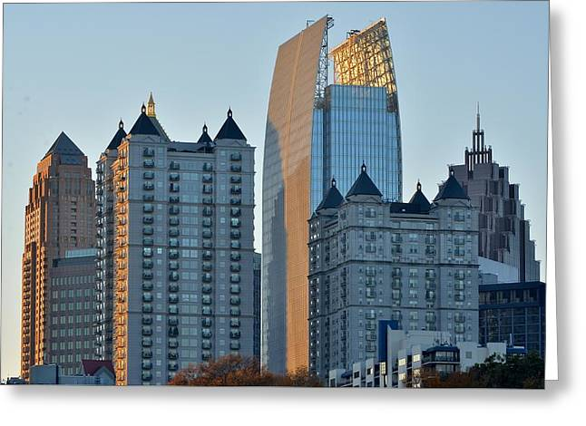 Atlanta Towers Greeting Card by Frozen in Time Fine Art Photography