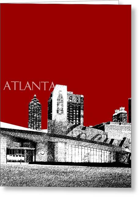 Atlanta World Of Coke Museum - Dark Red Greeting Card