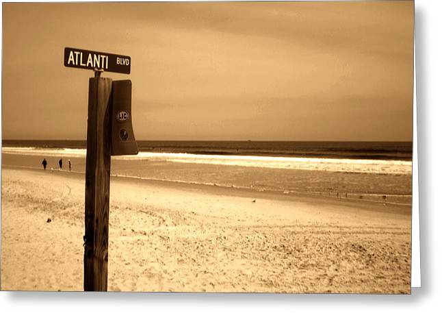 Atlantic Beach Greeting Card by Utopia Concepts