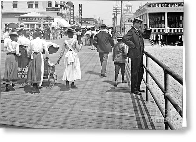 Atlantic City Boardwalk 1902 Greeting Card