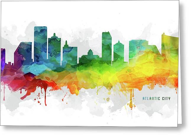 Atlantic City Skyline Mmr-usnjac05 Greeting Card