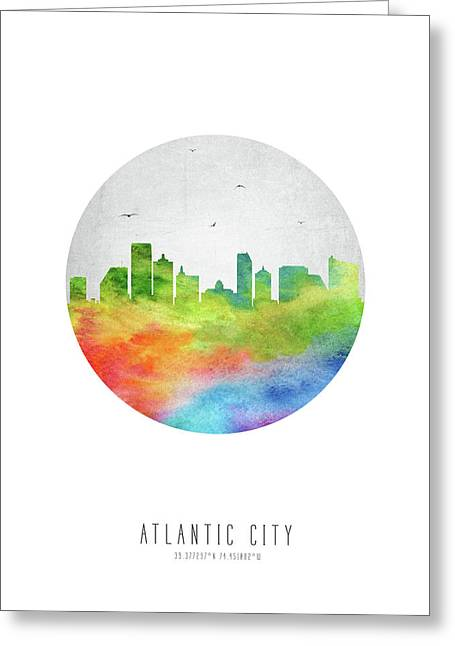 Atlantic City Skyline Usnjac20 Greeting Card