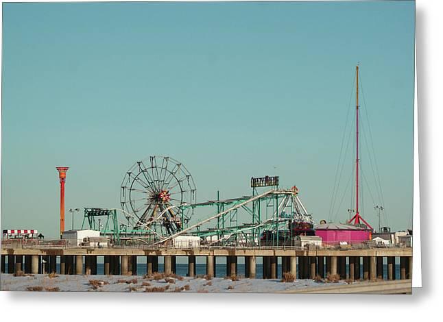 Atlantic City Steel Pier Amusements Greeting Card