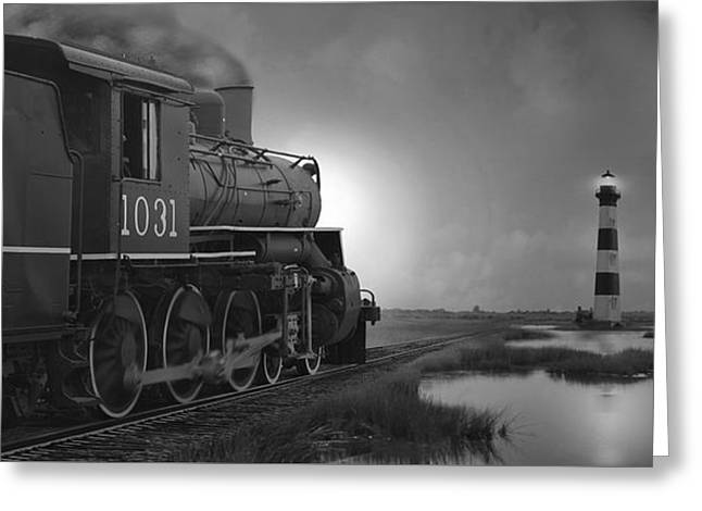 Atlantic Coast Line Panoramic Greeting Card by Mike McGlothlen