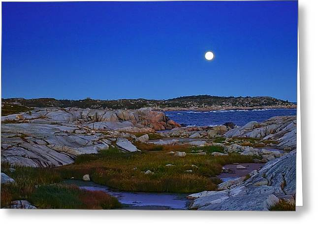 Atlantic Moon  Greeting Card by Heather Vopni