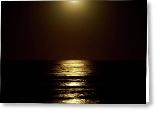 Atlantic Moon Shine Greeting Card by D Hackett