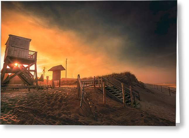 Atlantic Ocean Coast At Sunset - Nauset Beach Greeting Card