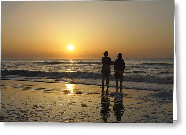 Atlantic Ocean Sunrise Greeting Card by Darrell Young