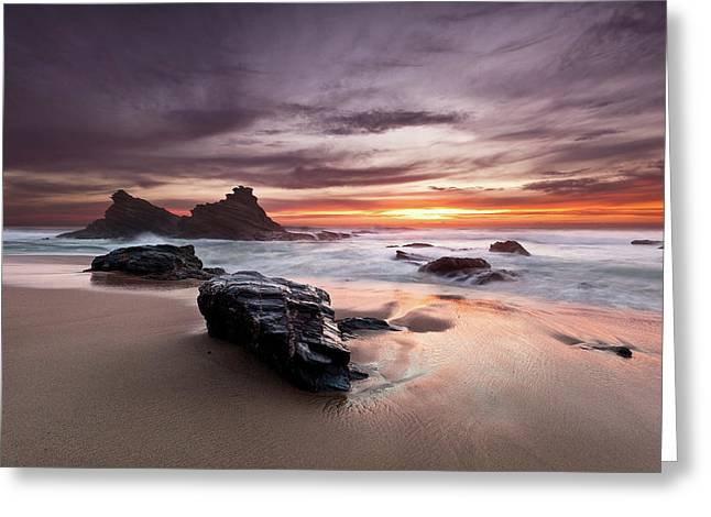Greeting Card featuring the photograph Atlantic Seashore by Jorge Maia