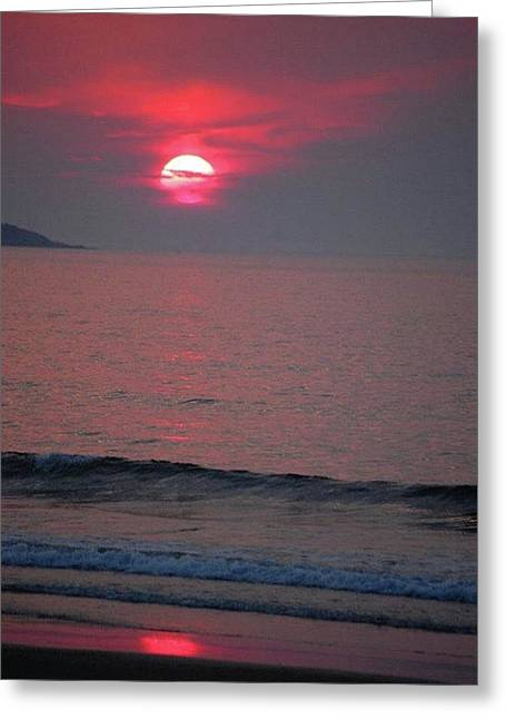 Atlantic Sunrise Greeting Card by Sumoflam Photography