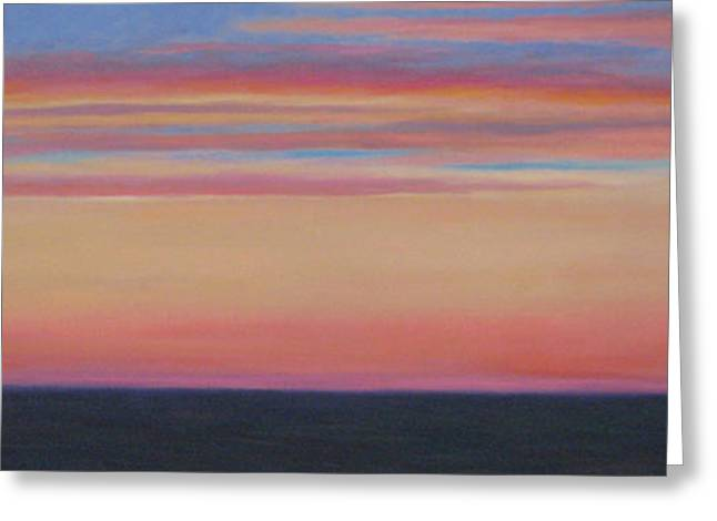 Atlantic Sunset Greeting Card by Jane  Simonson