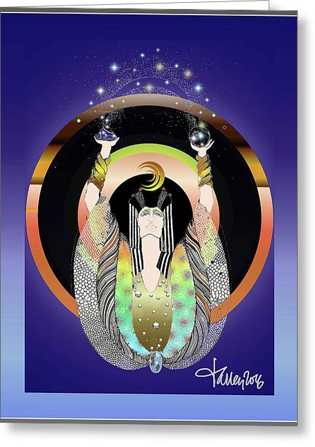 Atlantis - Copper Ring Energy Alchemy Greeting Card