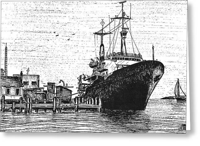 Atlantis II At Old Pier Greeting Card