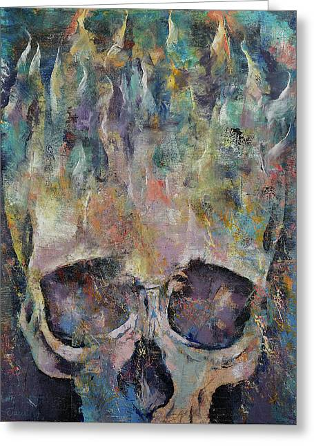 Atlantis Greeting Card by Michael Creese