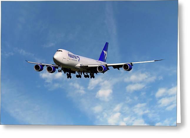 Atlas Air Boeing 747-87u Greeting Card
