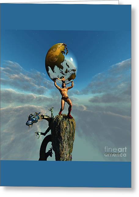 Atlas Greeting Card by Corey Ford