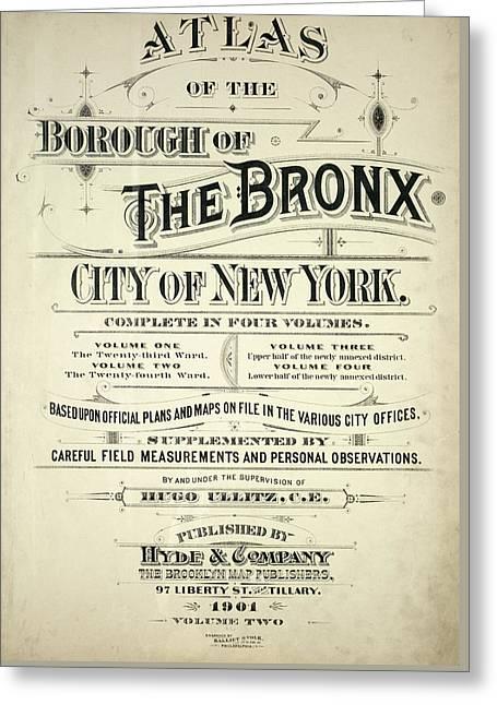 Atlas Of The Bronx Greeting Card