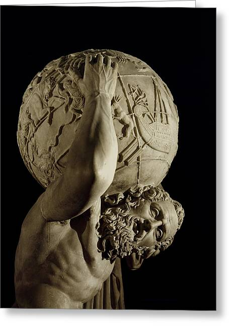 Atlas Greeting Card by Roman School