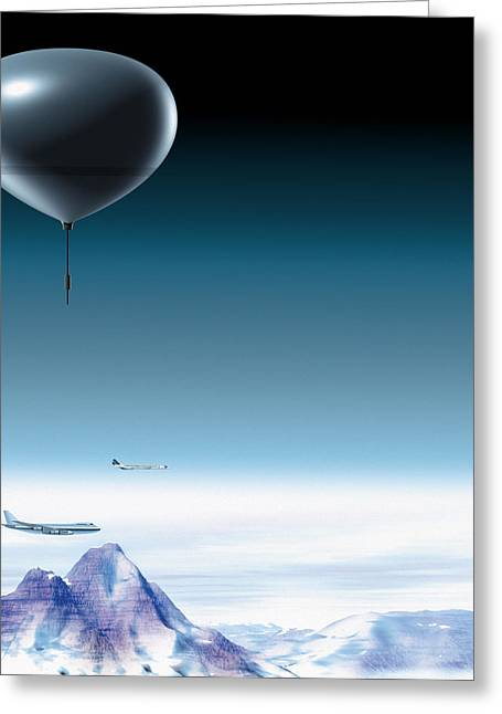 Concorde Greeting Cards - Atmospheric Balloon Greeting Card by Claus Lunau