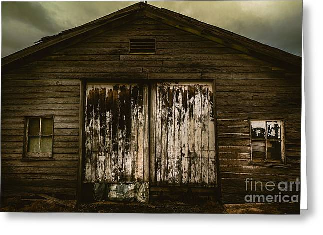 Atmospheric Farm Scenes Greeting Card by Jorgo Photography - Wall Art Gallery